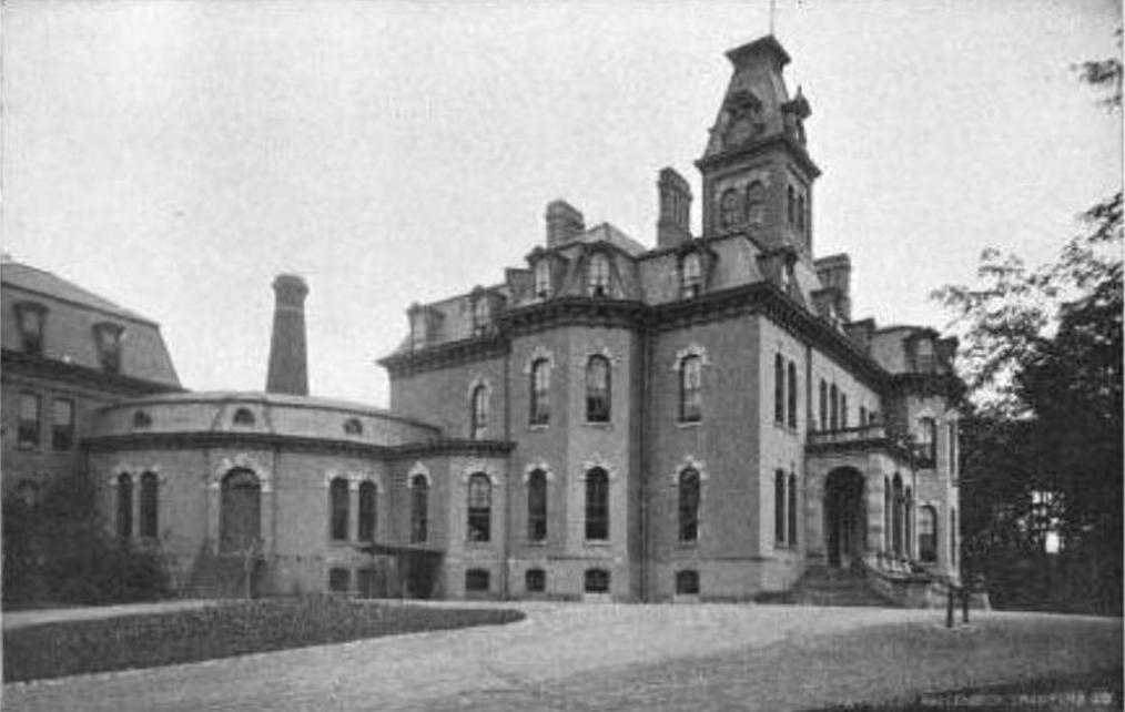 Willard state hospital main building circa 1898