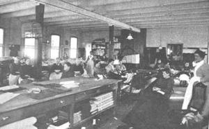 Patients At Work In The Sewing Room