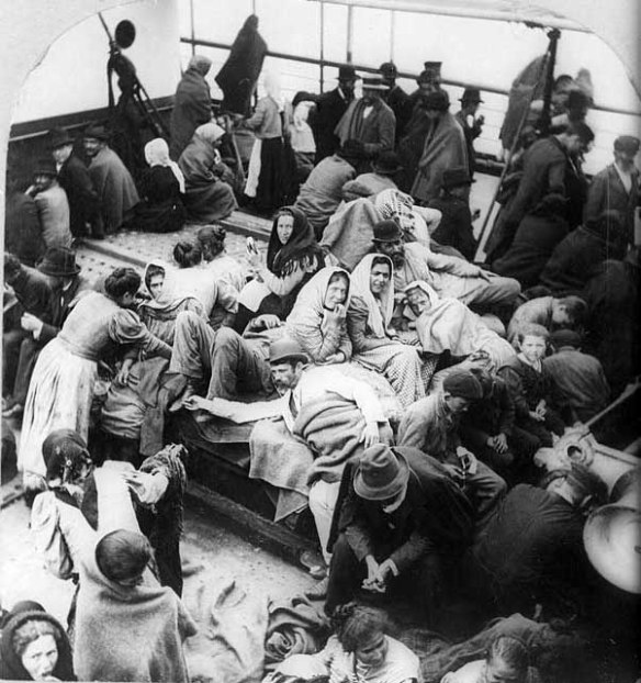 Immigrants Aboard Ship 1902
