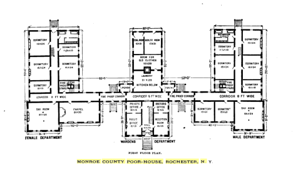 Monroe County Poor House Floor Plan