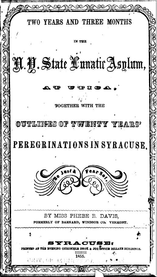 Davis Pamphlet 1855
