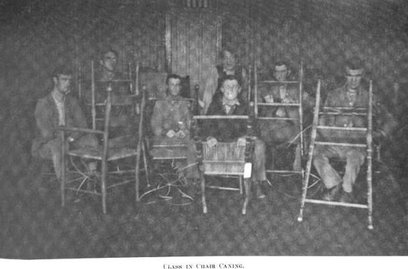 1909-20 Class In Chair Caning