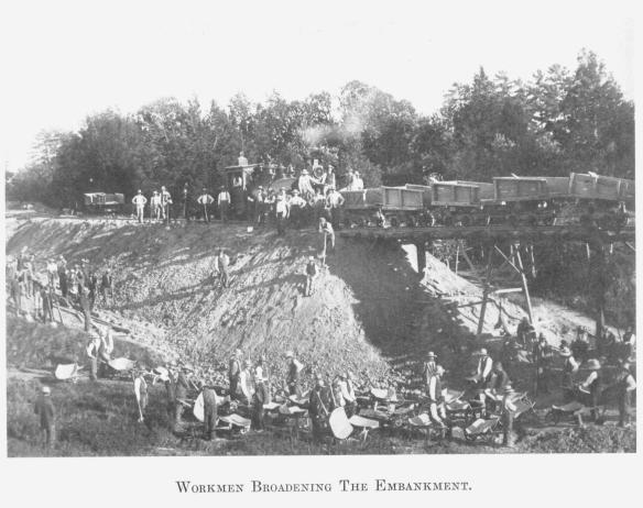 13 Workmen Broadening The Embankment