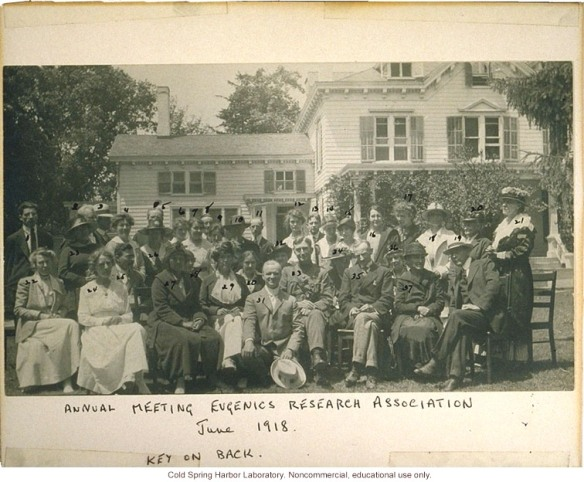 Eugenics Record Office, Annual Meeting of the Eugenics Research Association, 1918 (Laughlin in front, Stewart House in background) http://www.eugenicsarchive.org/html/eugenics/index2.html?tag=1664