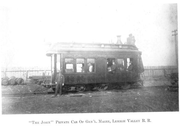4 The John, Private Car Of Gen'L. Magee, Lehigh Valley R.R.