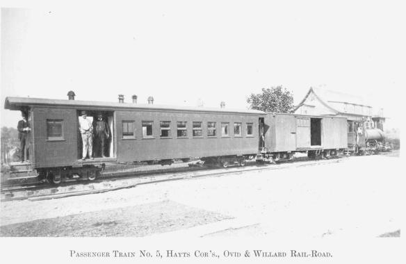 7 Passenger Train No. 5, Hayts Cor's., Ovid & Willard Rail-Road