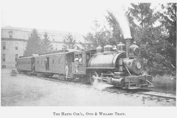9 The Hayts Cor's., Ovid & Willard Train