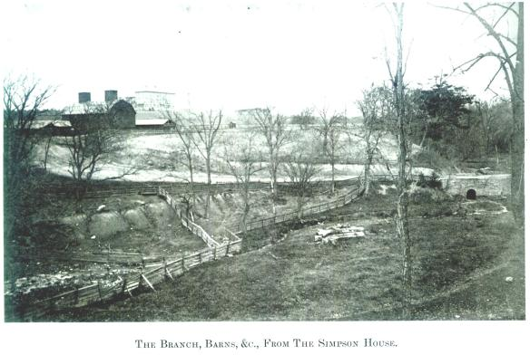The Branch, Barns, &c., From The Simpson House - Wayne E. Morrison, Sr. 1978