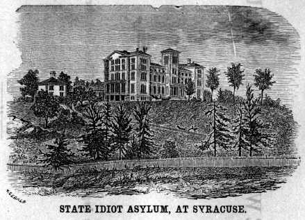 State Idiot Asylum at Syracuse 1858