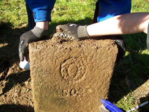 #502 in the Protestant section is unearthed in the Wheater Road Cemetery