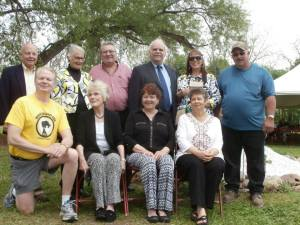Willard Cemetery Memorial Project Volunteers & Special Guests. Back row - Perry Bradley, Gail Snyder, John Allen, Kathy Kern, Mike Huff. Front row - Barry Martz, Janet Brown, Colleen Kelly Spellecy, Darby Penney. Lena Shipley (not in photo).