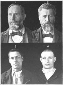 Plate V - Insane Criminals 1898